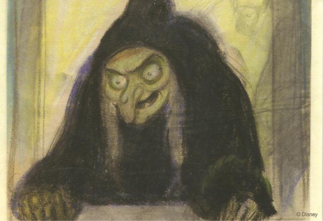 35白雪公主 巫婆帶毒蘋果給白雪公主  故事稿 迪士尼藝術家