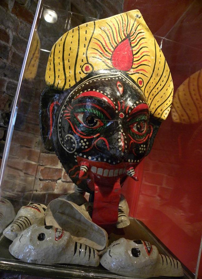 12印度時母面具 紙製 19th (1)