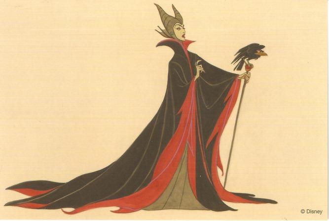 37睡美人 黑巫婆與烏鴉 概念圖稿 Marc Davis
