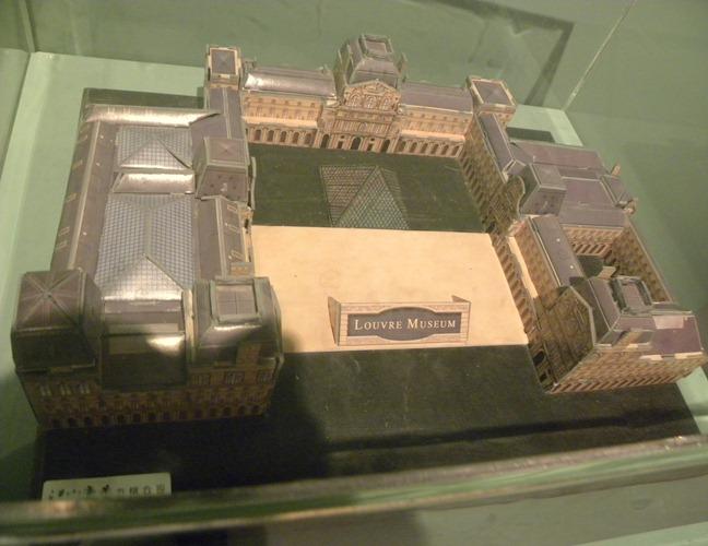 062羅浮宮紙模型